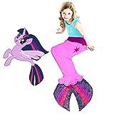 Blankie Tails   My Little Pony Mermaid Blanket Wearable Blanket - Double Sided My Little Pony Minky Fleece Blanket - Mermaid Tail Blanket (56'' H x 27'' (Kids Ages 5 - 12), Twilight Sparkle Seapony)