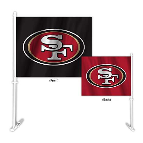 Fremont Die NFL San Francisco 49ers Home & Away Car Flag, 11.5