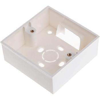 Caja de conexiones de PVC de 86 x 86 mm, montaje en pared, cassette para interruptor base exterior caja de conexiones externa: Amazon.es: Bricolaje y herramientas