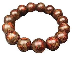 ZHIBO tibetischer Achat drei Augen Dzi Perlen Armband Herren Damen Schmuck