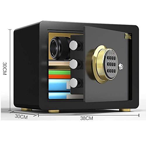 ZBM-ZBM Safe Huishoudelijke Kleine nachtkastje muur 30cm Wachtwoord All-steel Anti-diefstal Vuurvast Safe Mini Office Home Safes sleutelkast Zwart