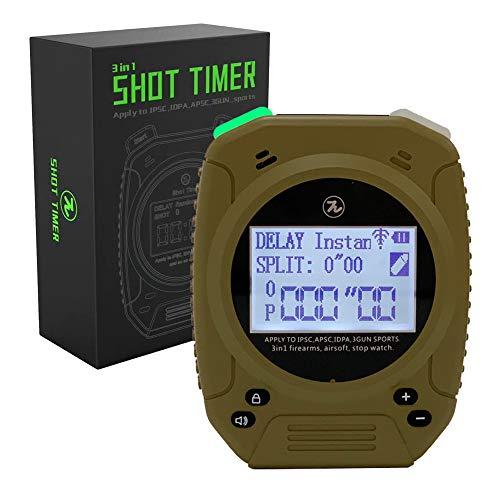 SPECIAL PIE Shot Timer – Schuss Timer für Schusswaffen Airsoft, Pistolen, Rifle Competition Timer (Wüste)