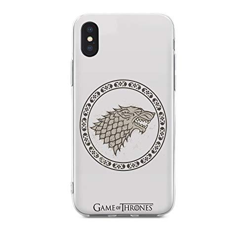 Juego de Tronos Mobile Shell iPhone X / XS Fuerte Crest Silicona Blanco