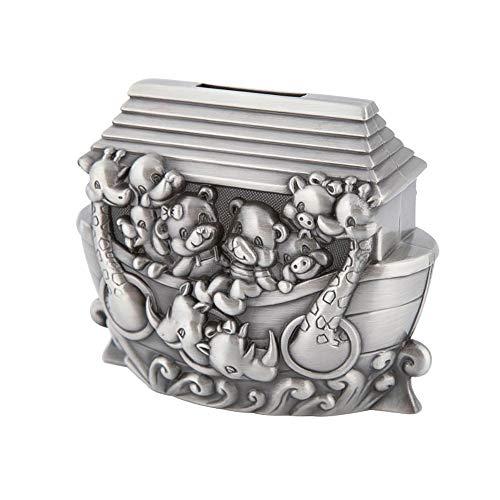 EVFIT Hucha Almacenamiento Arte del Metal Europeo Creativo del Tanque Hucha de Dibujos Animados Arca de Noé Frasco de Cambio la decoración del hogar Regalo