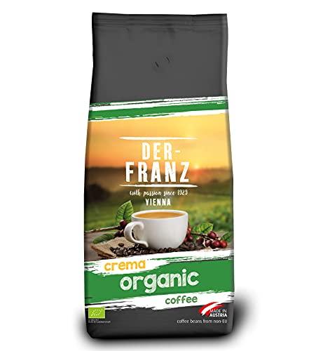 Der-Franz - Café Crema Bio certifié UTZ, en grains, 1000g
