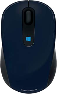 Microsoft 43U-00014 Wireless Blue Track Technology Sculpt Mobile Mouse - Wool Blue