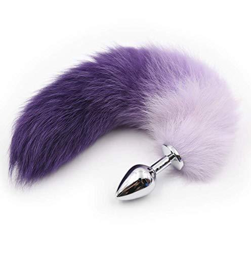 (Purple Queen) Schattige kleine dieren nepbont banden Fox staart B52