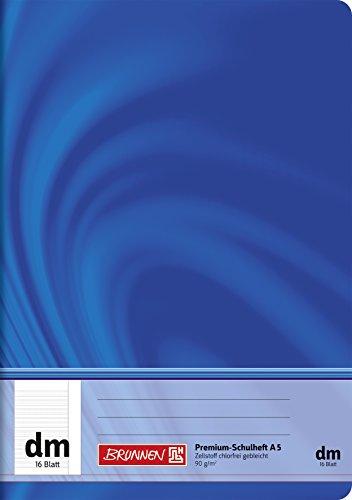 Brunnen 104571302 Schulheft A5 Vivendi (16 Blatt, mit Rand, Lineatur dm, Klasse 2)
