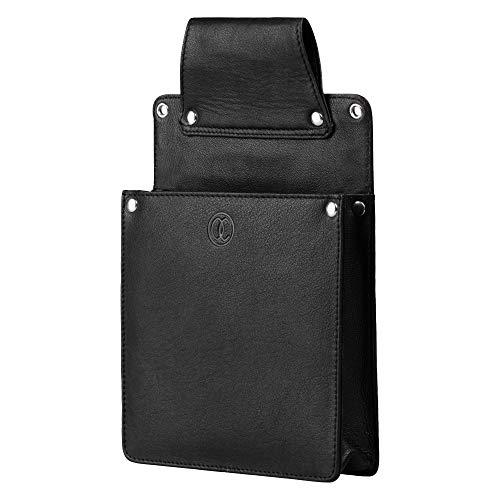 Kavali Concepts Bolso Camarero para Mini iPad o Tablet. Accesorios Camarero del Futuro Funda Holster de Cuero de Calidad Superior Negro para Cinturón Camareros Cafe Bar Restaurante Hosteleria