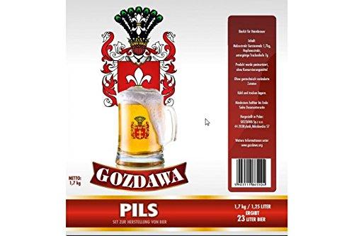 GOZDAWA Pils - Kit de cerveza para preparar cerveza de 1,7 kg (hasta 23 litros)