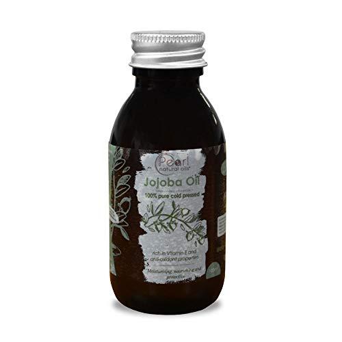 100% Pure Golden Jojoba Oil 100ml - Cold Pressed,Unrefined, Vegan, Hexane Free, No GMO. A Perfect Aromatherapy and Massage Base Oil 100ml