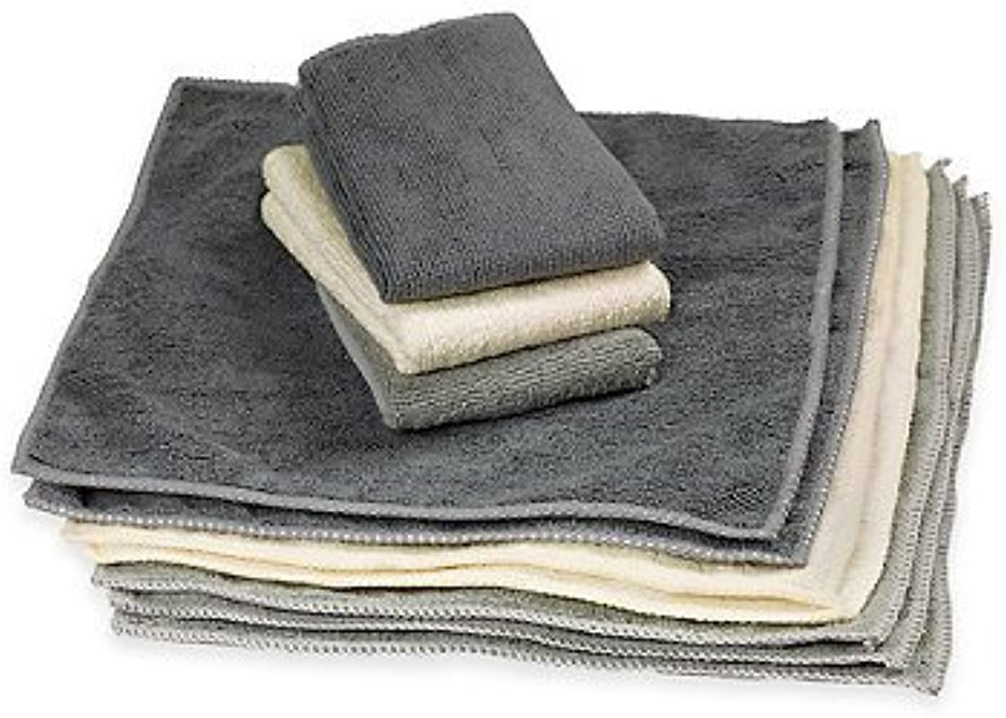 The Original 12 X 12 Microfiber Cleaning Towels Set Of 10