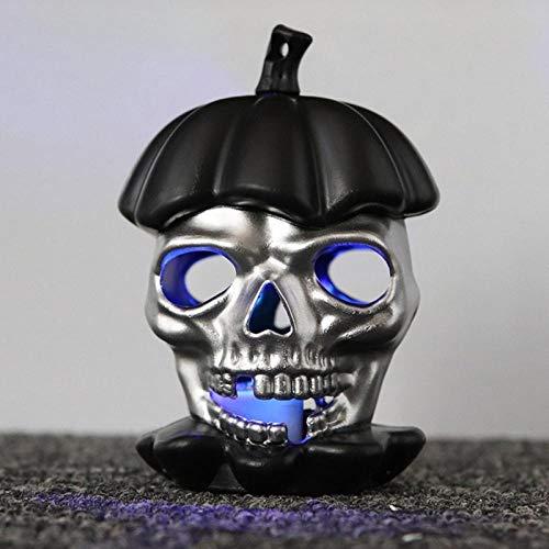 Z1 5 velas de té decorativas, diseño de esqueleto, luces LED de calavera, para Halloween, 4 unidades, color negro