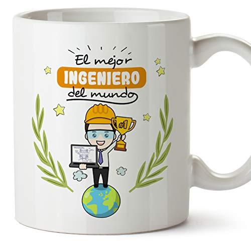 MUGFFINS Taza Ingeniero (Mejor del Mundo) - Regalos Originales y Divertidos de Ingeniería