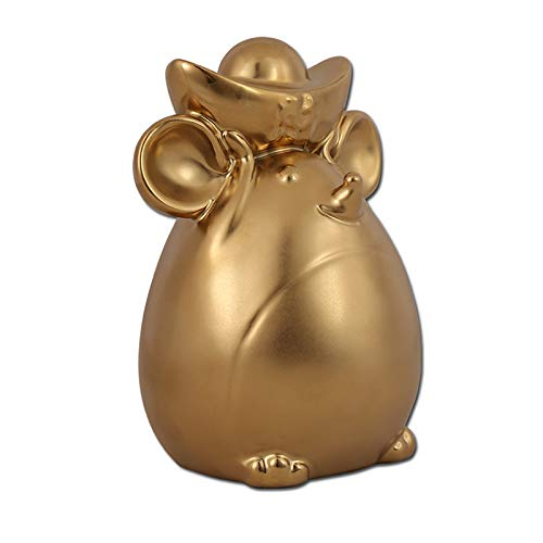 DGFTC-2 Ceramic Piggy Bank, Lucky Rat Mouse Bank 2020 Chinese Zodiac Rat Year Desktop Home Living Room Crafts Decoration Ornaments, Best Gift for Child