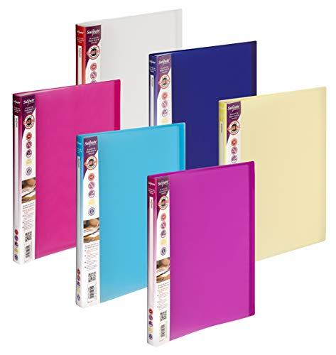 Snopake Lite Sichtbuch A4 mit 40 Hüllen, 12 Stück, farblich sortiert