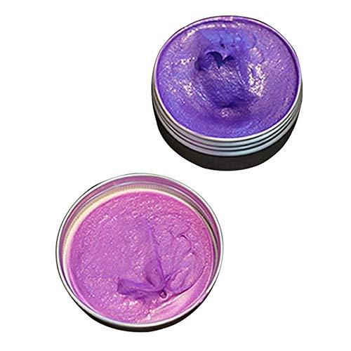 RoSoy Haarfärbemittel Wachs Farbe Styling Einweg Temporäre Frisurencreme für Männer Frauen Haarformpaste