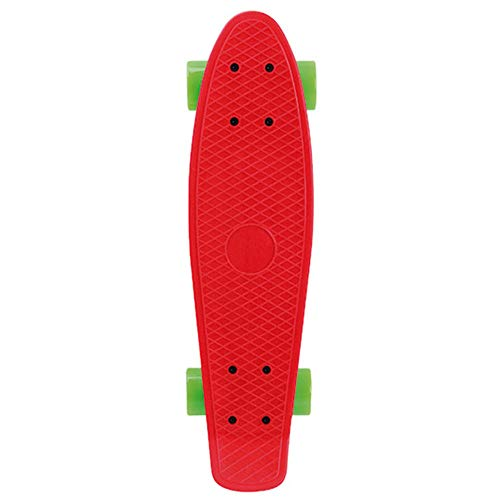 WotheCase complete skateboard suitable for adult girls Beginner children boys youth professional skateboard cruiser plastic skateboard-red