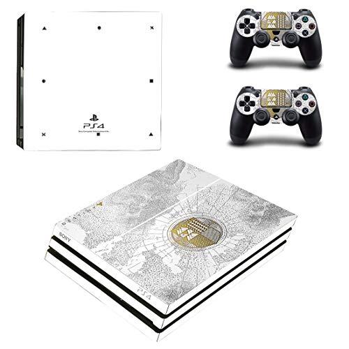 Adventure Games - PS4 PRO - Destiny Spec. Ed. - Playstation 4 Vinyl Console Skin Decal Sticker + 2 Controller Skins Set