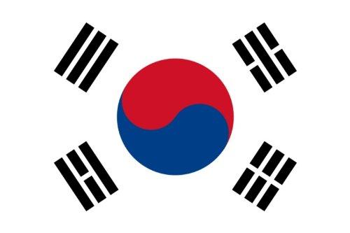 Drapeau de la Corée du Sud avec côté mât renforcé, 90 x 150 cm Ruban