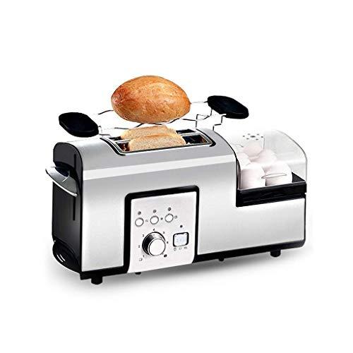 Tostadora 2 rebanada pan tostadora compacta multifunción tostadora de la cocina de la cocina de la máquina de desayuno de las ranuras anchas del diseño de la antiestácea y el color de la función de re