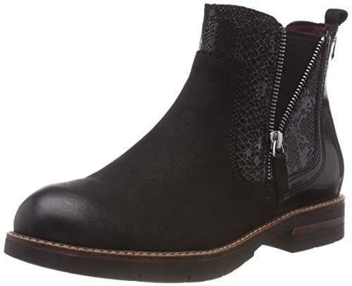 Tamaris Damen 25426-21 Chelsea Boots, Schwarz (Black Comb 98), 41 EU