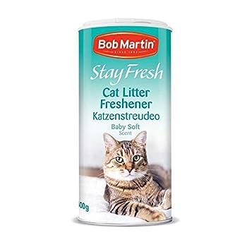 Bob Martin 4X Rester Frais Désodorisant Litière pour Chat bébé Doux Parfum Poudre 400g