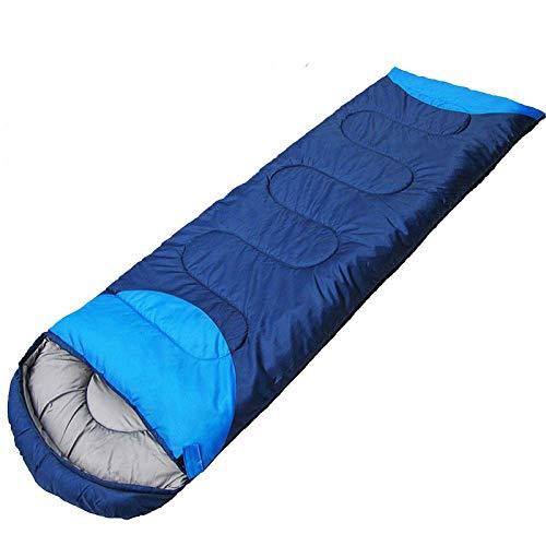 CATRP-Sac de couchage Universel pour Camping Quatre Saisons, Sac de Couchage Respirant en Coton (Couleur : Bleu)