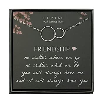 Best sterling silver friendship necklace Reviews