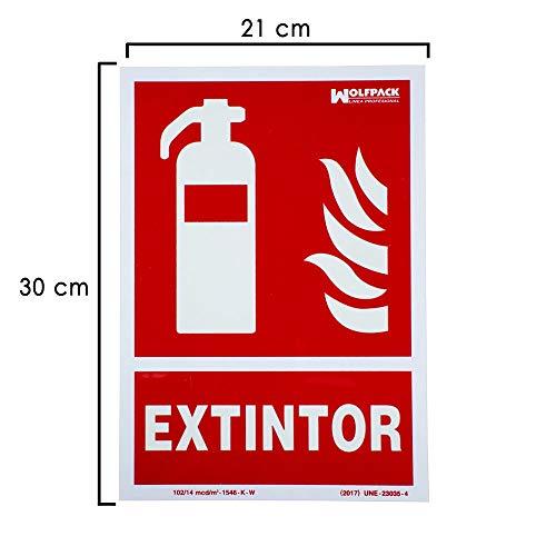 Cartel/Señal Fluorescente Extintor 30x21 cm.