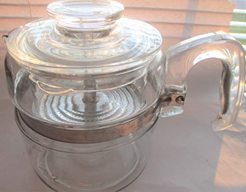 VINTAGE Pyrex 4 Cup Stovetop Percolator Complete as shown -- RARE