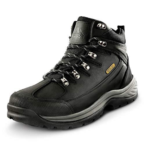 NORTIV 8 Men's Mid Ankle Waterproof Hiking Boots Trekking Mountaineering Outdoor Boots Black Size 11 M US Hiker