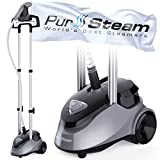 PurSteam Garment Steamer Professional Heavy Duty Industry Leading 2.5 Liter (85 fl.oz.) Water Tank, 60+min of...
