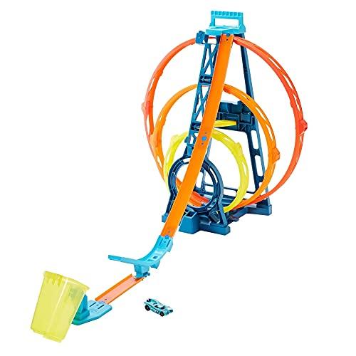 Hot Wheels Track Builder Unlimited Triple Loop Kit, Multi Color, Model:GLC96