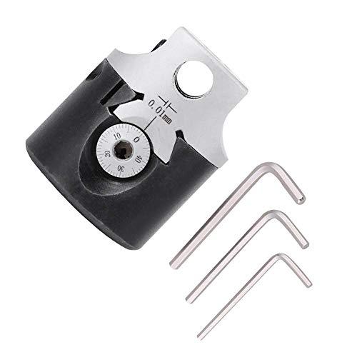 ZLININ Cabezal de mandrinar, 50 mm de alta resistencia tipo F1 cabeza de mandrinar de 12 mm torno de barra de fresado para vástago MT2 MT3 R8 con alta precisión que alcanza 0,01 mm