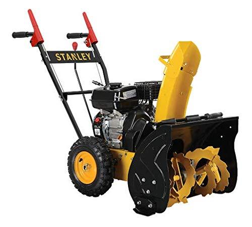 STANLEY SPT-196-560 Schneefräse | Schneeräumer | 6,5 PS Motorleistung | Benzinmotor | 240 mm Schneckendurchmesser | 560 mm Räumbreite