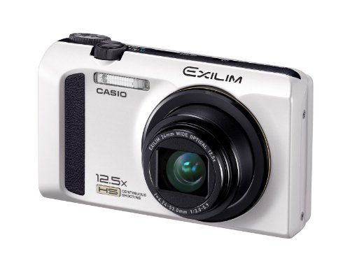 CASIO デジタルカメラ EXILIM ホワイト EX-ZR100WE