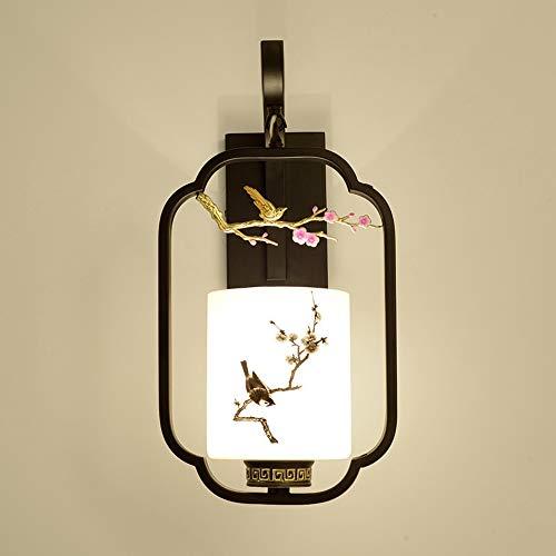 WZXCAP Chinesische Mauer Lampen Kreative LED Antike Beleuchtung Eisen Bedside-Lampe for Schlafzimmer Wohnzimmer Study Hotelflur Treppen Wandleuchten Retro Licht Leuchte (Size : A)