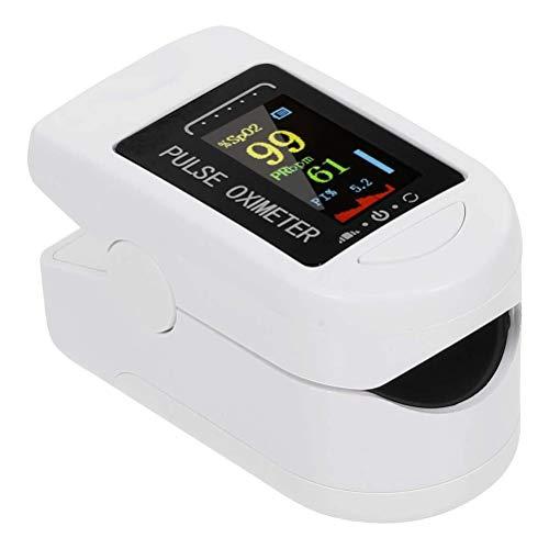 Tumnea Pulsioxímetro de Dedo con frecuencia respiratoria, pulsioxímetro de Dedo Digital Pantalla OLED Sensor de oxígeno en Sangre Monitor de frecuencia de Pulso PR de saturación
