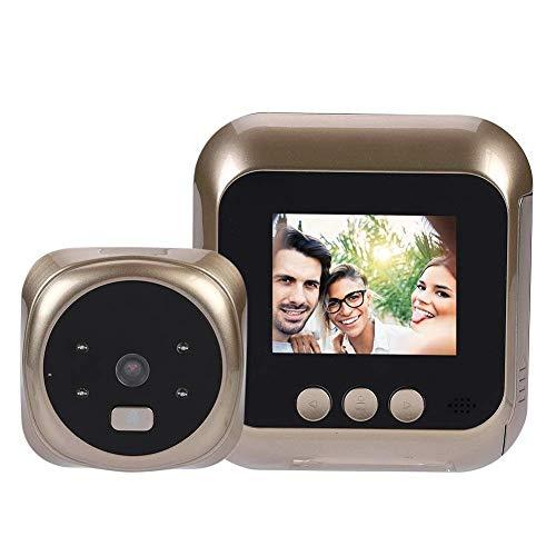 Smart Video-Türklingel mit 2,4-Zoll-HD-Bildschirm 135 Grad Weitwinkel-Objektiv und Infrarot-Nachtsichtgeräte, elektronisches Tür-Projektor for Home Security, Privathäuser, Familienhäuser, Büros usw. Z