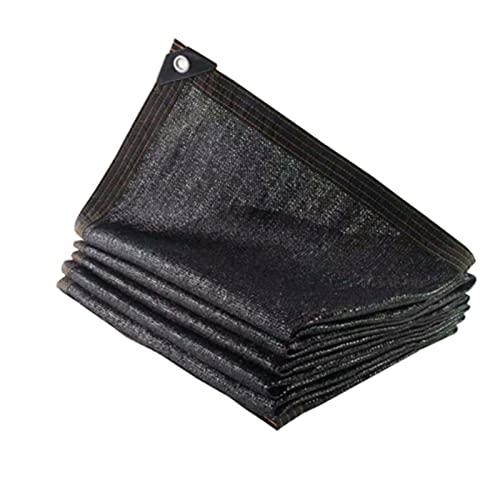 ZWYSL Velas de Sombra Paño Sombra 90% Malla Protección Solar con Ojales Aluminio Protección Plantas Flores Mascotas Perreras Cubierta de Pérgola (Color : Negro, Size : 6×8m)