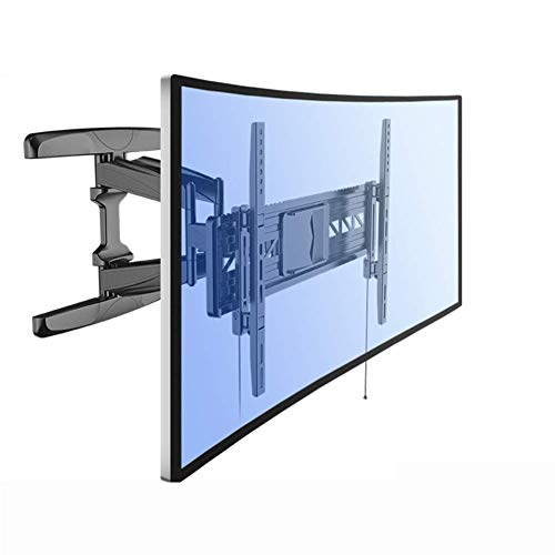 Soporte para TV Panel Curvo Articulado Soporte de Montaje en Pared para TV-Función giratoria de inclinación de Brazo Doble para televisores UHD OLED 4K de 32'-70'