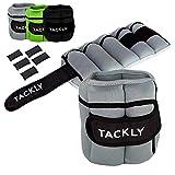 TACKLY Pesas para tobillos y muñecas 1 a 4 kg convertibles con banda reflectante- Tobilleras con peso - Lastres tobillos pesas para piernas
