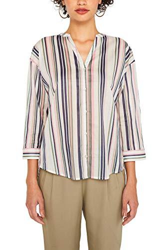 edc by ESPRIT Damen 079Cc1F001 Bluse, Weiß (Off White 110), X-Small (Herstellergröße: XS)