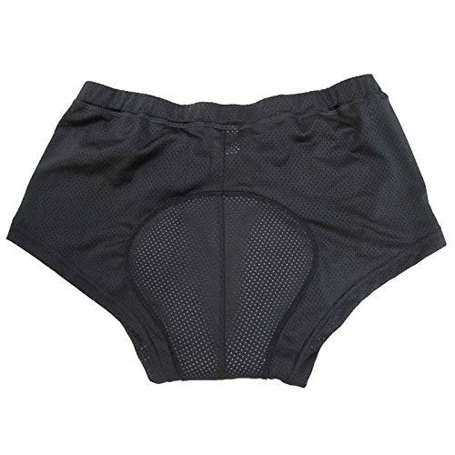 Pantaloncini Ciclismo Biancheria Intima delle Donne di Guida MTB Bike Shorts Slip Strada della Bicicletta Traspirante 3D Gel Pad Confortevole Bike Short Pants (Color : Black, Size : M)
