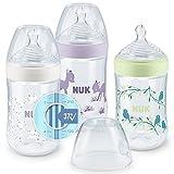 NUK Nature Sense Babyflaschenset   0–6Monate   3Flaschen mit Temperature Control Anzeige   260ml   Gibt gestillten Babys ein natürliches Trinkgefühl   Anti-Kolik-Ventil   BPA-frei   Rosa   3 Stück