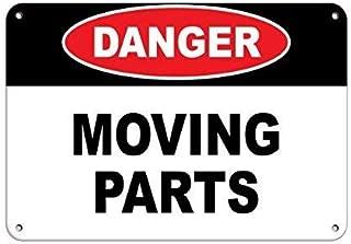 Leiacikl22 Aluminum Metal Sign Danger Moving Parts Hazard Sign Hazard Labels Aluminum Metal Sign 8