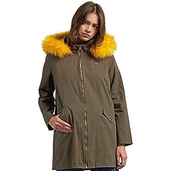 Volcom Junior s Pow Now Faux Fur Lined Heavyweigh Parka Jacket dark camo Large