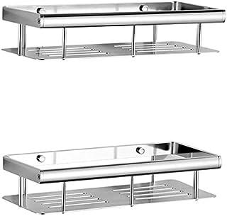 HSWJ Porte rectangulaire Support de Rangement Salle de Bain Cuisine Support de Rangement Mural Flottant Boîte de Rangement...