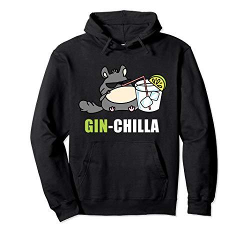 Ginchilla Gin Lustig Chinchiller Geschenk Gin-Liebhaber Pullover Hoodie